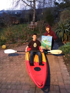 Dan receiving his Weymouth Kayak commission